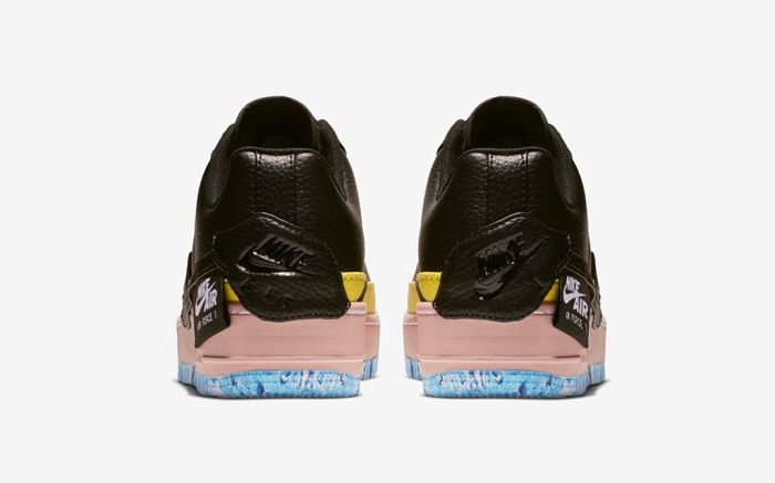 Nike Air Force 1 Jester black yellow pink