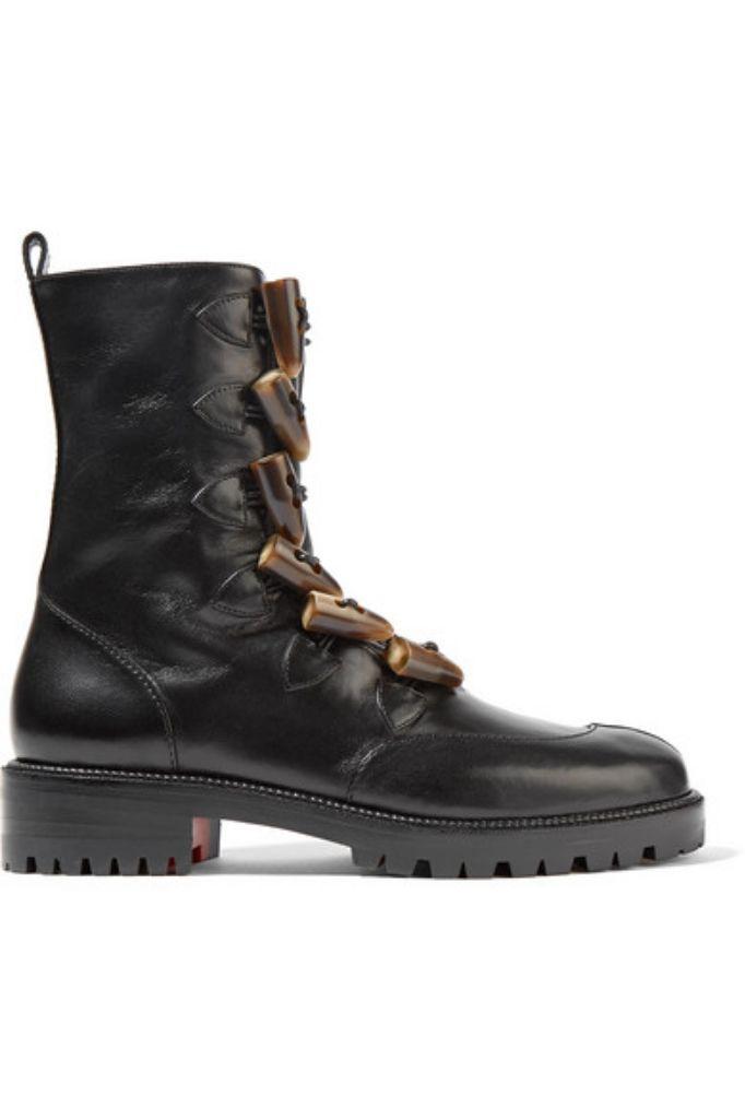 christian louboutin fall 2018 combat boot trend