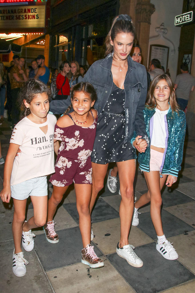 Alessandra Ambrosio, daughter, anja, birthday party, ariana grande concert