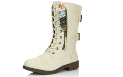 Daily Shoes Women's Military Combat Boots