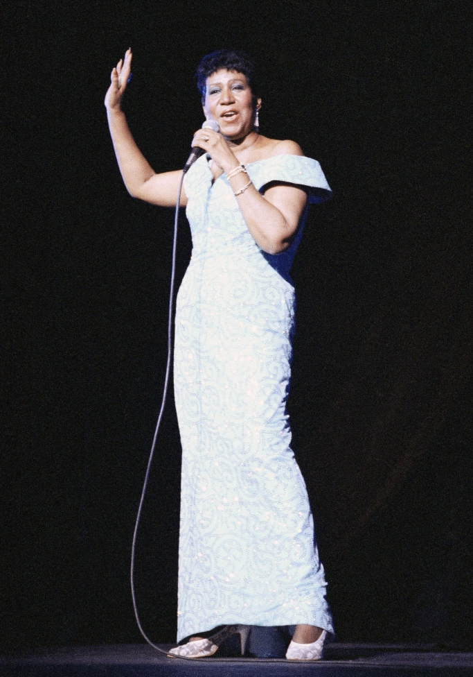 aretha franklin performing 1989