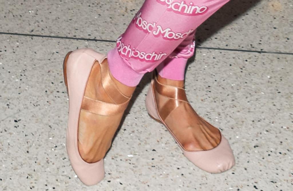 Paris Hilton wearing ballerina flats