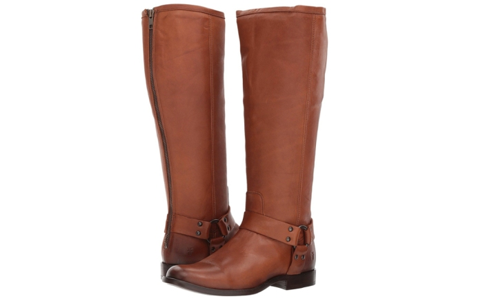 Frye Phillip Harness tall wide calf boots.