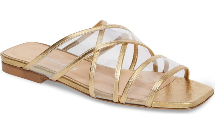 Charles David Drea Transparent Strap Slide Sandal