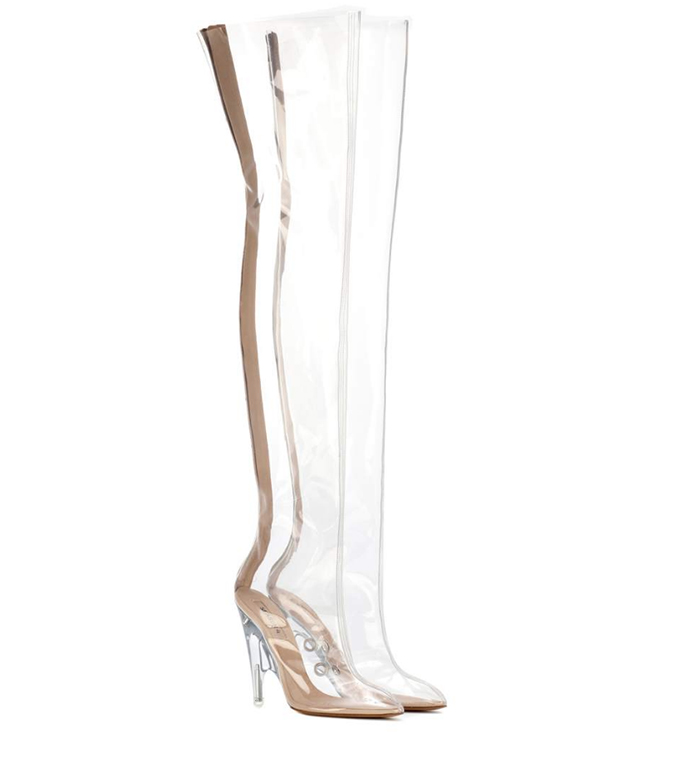 Yeezy Tubular clear over-the-knee boots
