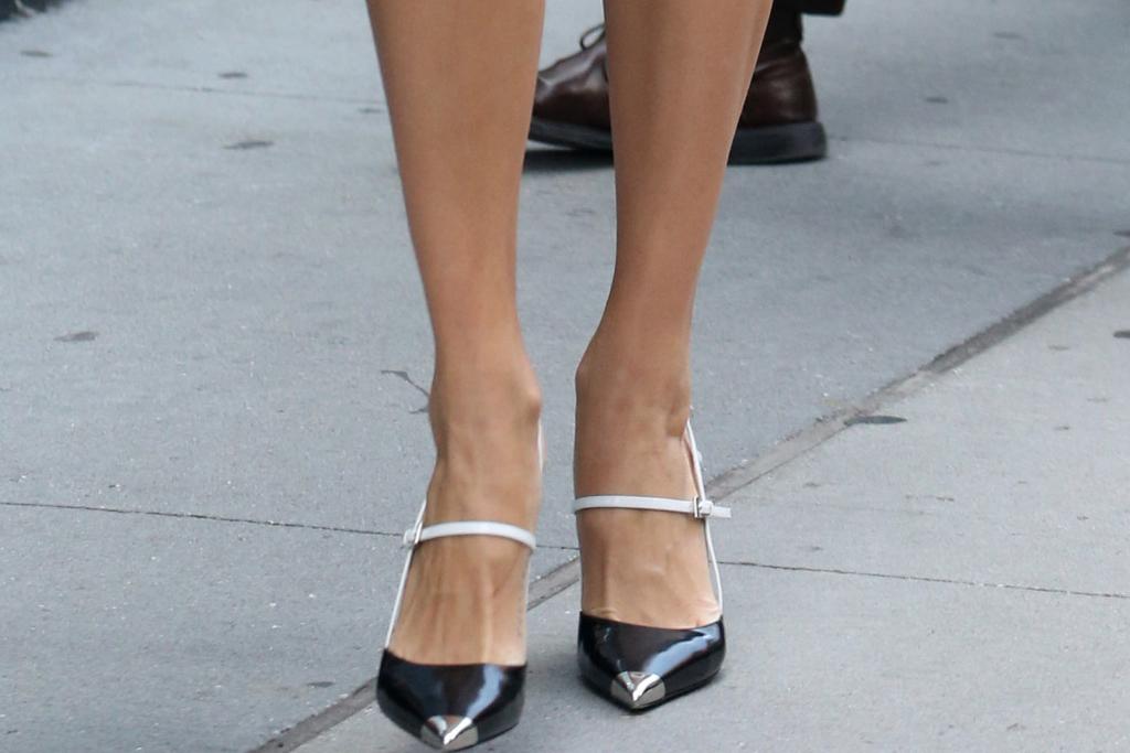 devon windsor, prada heels