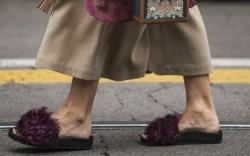 fur slides for fall