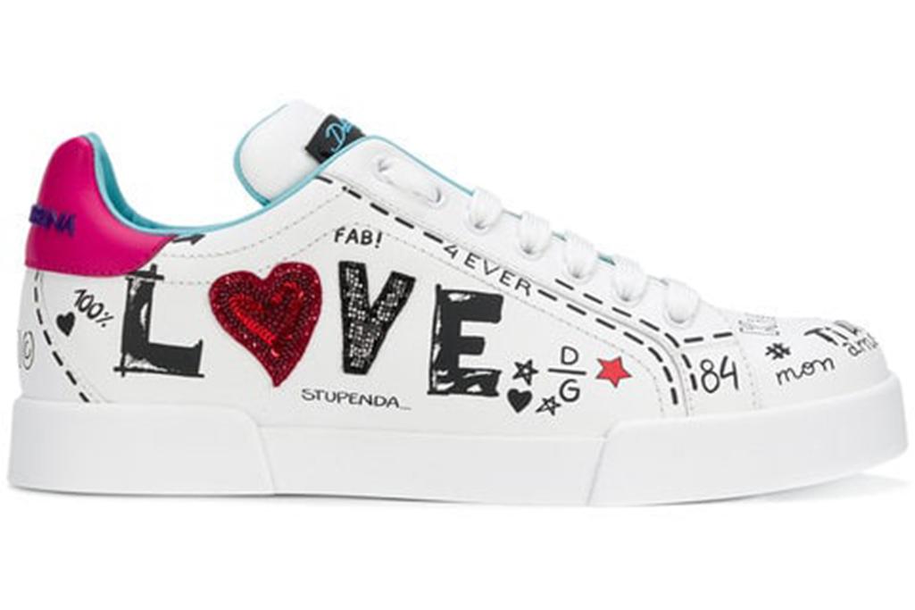 graffiti shoes, dolce and gabbana