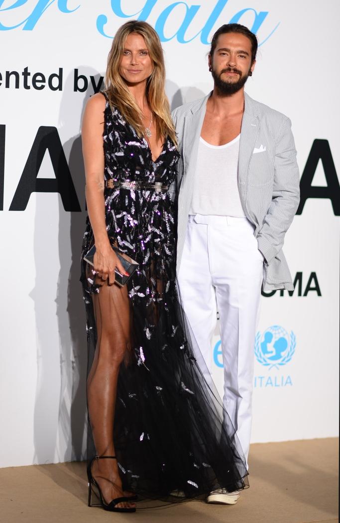 heidi klum and Tom Kaulitz, unicef summer gala, Azzaro Couture