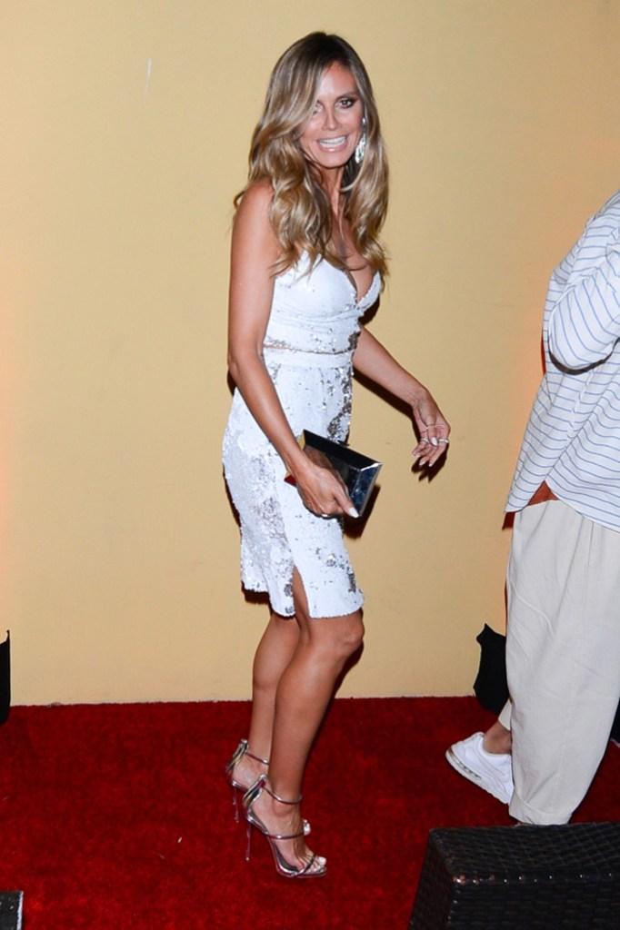 Heidi Klum, AGO Restaurant, Simon Cowell, Hollywood Walk of Fame, Giuseppe Zanotti