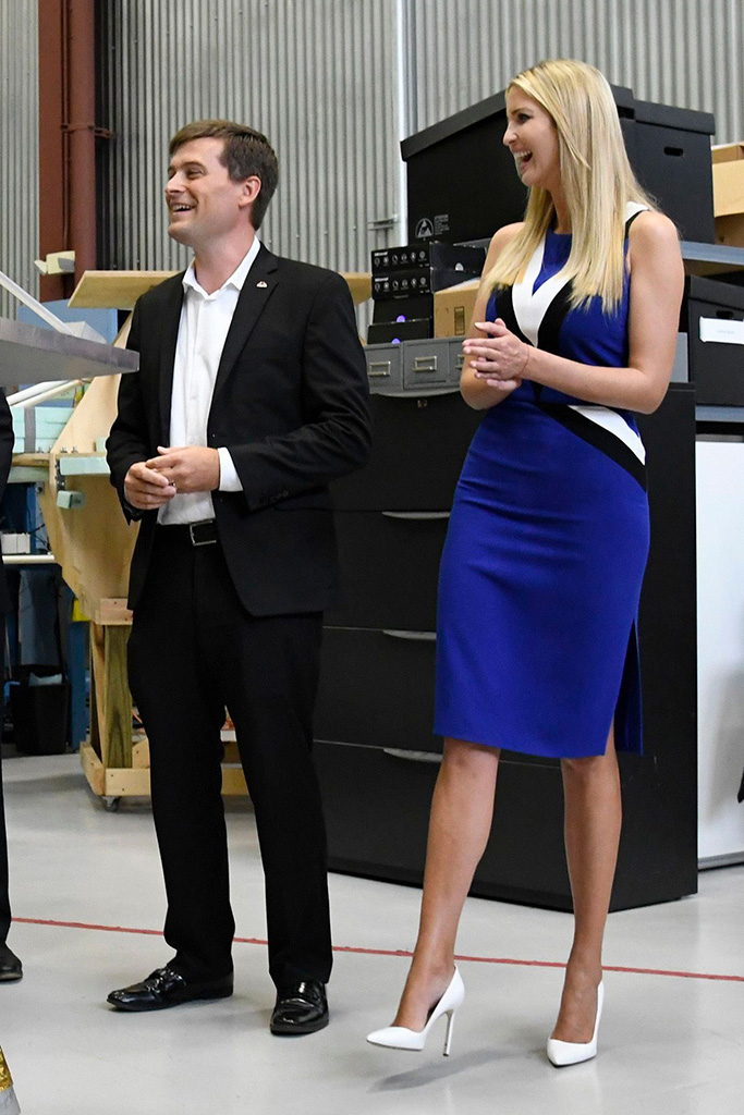 Ivanka Trump, John Thornton. John Thornton CEO of Astrobotic, a space robotics technology company, gives Ivanka Trump a tour at the company's facility in PittsburghIvanka Trump, Pittsburgh, USA - 14 Aug 2018