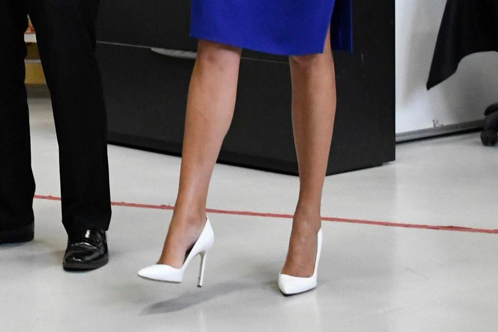 Ivanka Trump shoes, white pumps