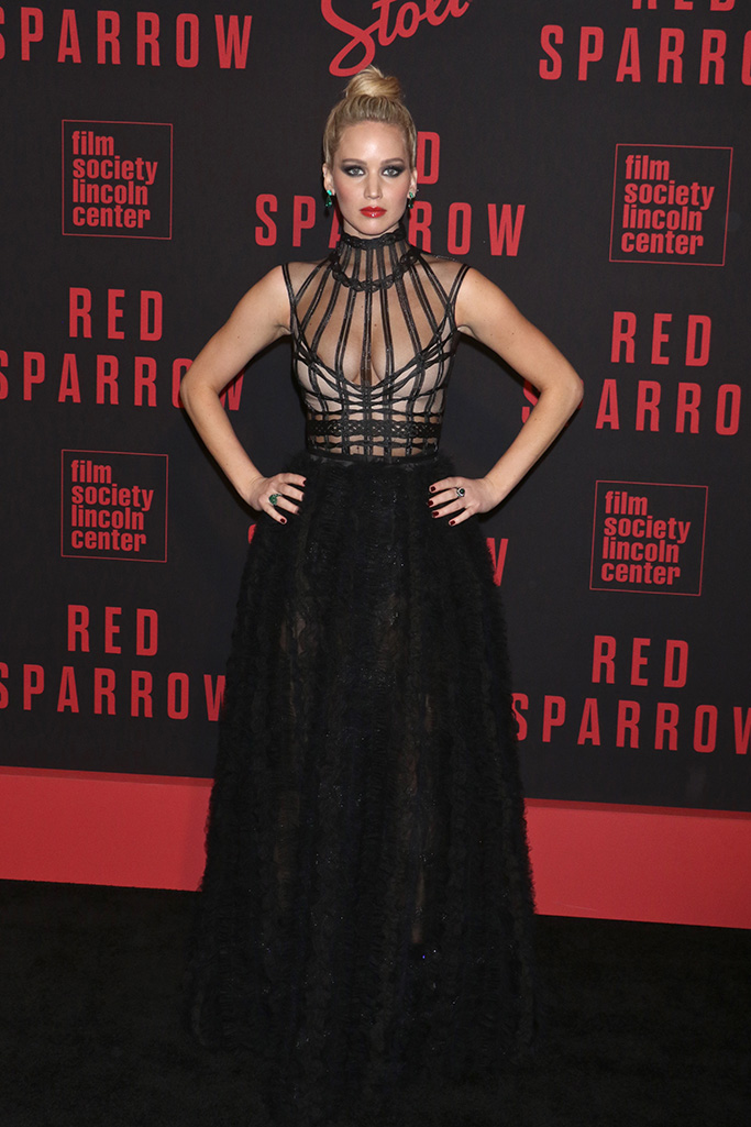 Jennifer Lawrence, red sparrow red carpet