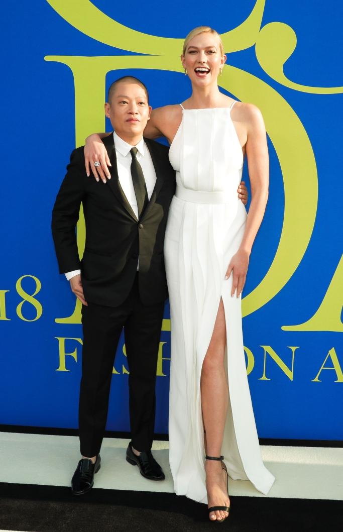 karlie kloss, jason wu, height, sandals, CFDA Fashion Awards 2018