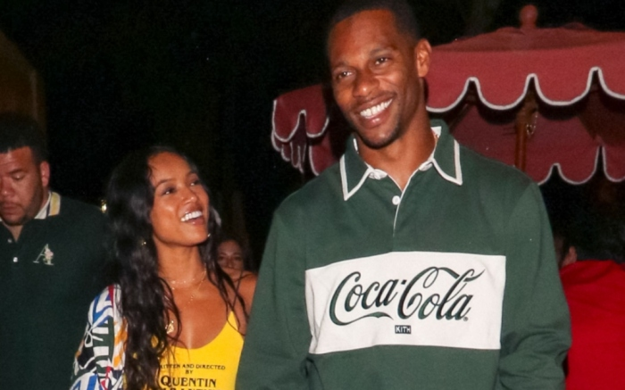 Karrueche Tran and Victor Cruz, kith coca-cola