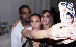 Kim Kardashian, Carine Restoin-Roitfeld and Kanye