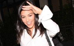 Kourtney Kardashian shows off her midriff