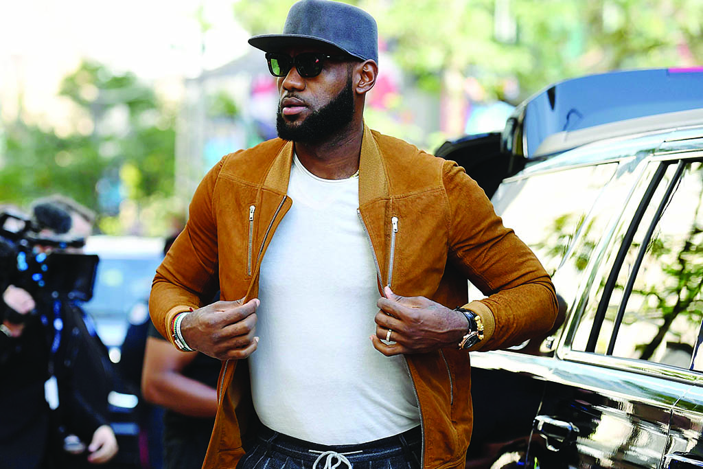 Executive producer LeBron James attends a premiere for