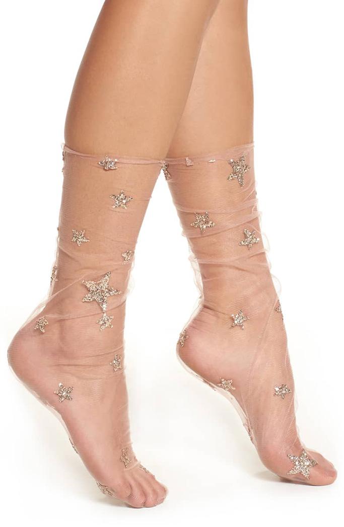 Lirika Matoshi Glittery Star Tulle Socks