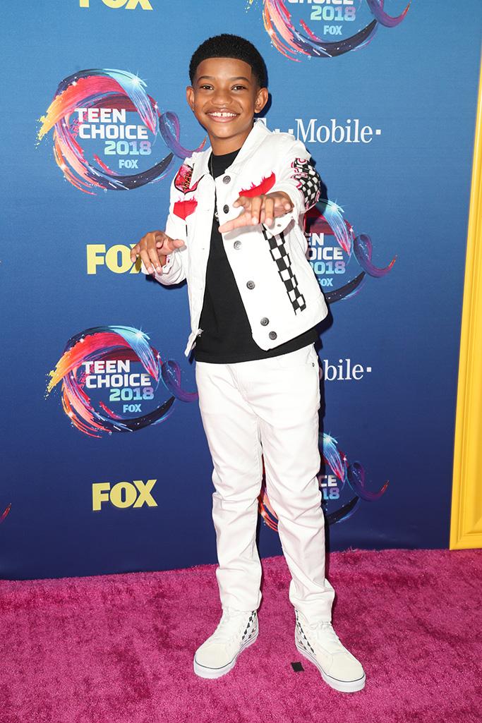 Lonnie Chavis Teen Choice Awards, Arrivals, Los Angeles, USA - 12 Aug 2018