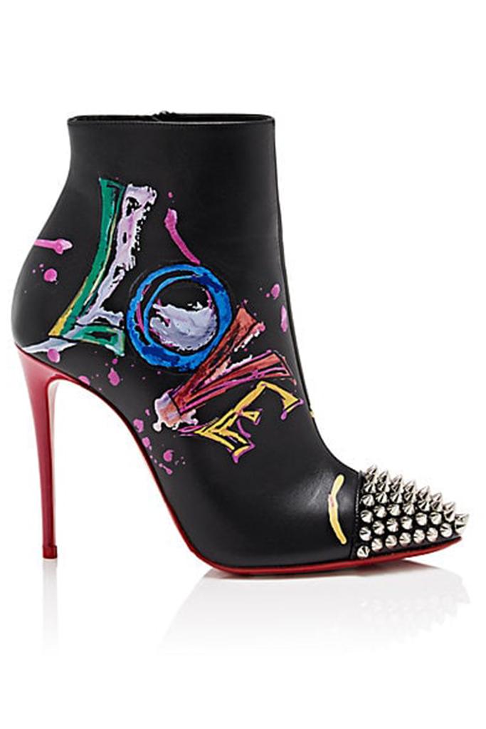 graffiti shoes, christian louboutin boots