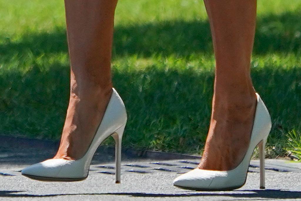 melania trump, shoes, high heels