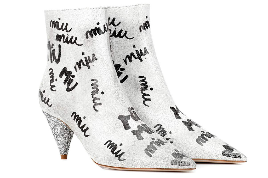 graffiti shoes, miu miu boots