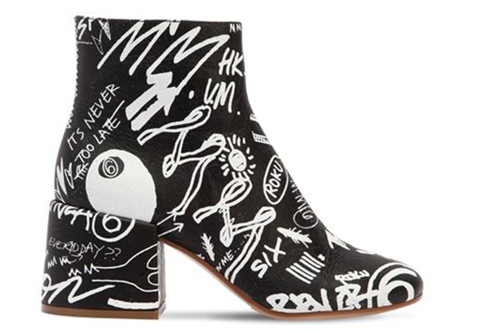 graffiti shoes, MM6 Maison Margiela