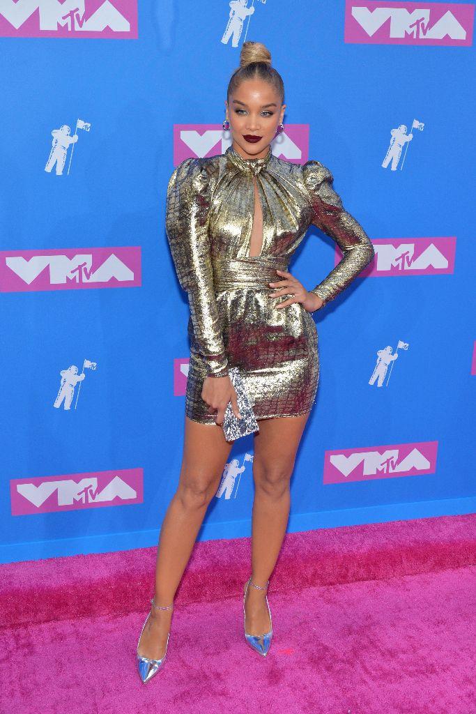 jasmine sanders, metallic pumps, mtv video music awards 2018