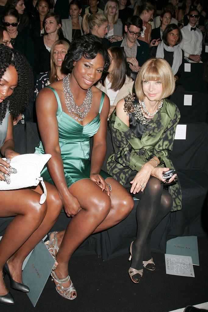 Serena Williams and Anna Wintour Zac Posen Spring 2009