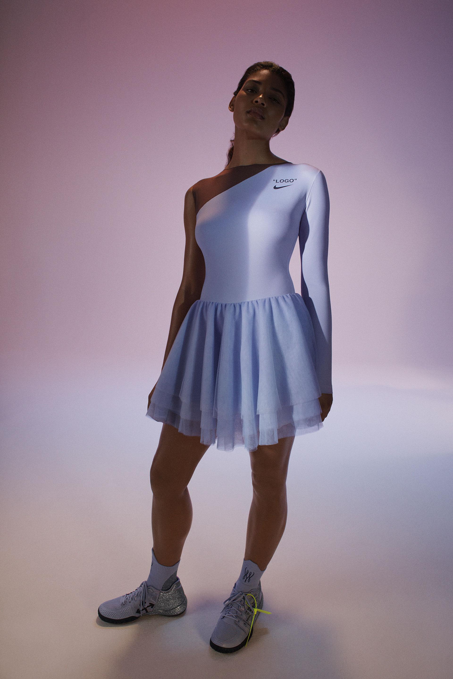 Daytime dress designed by Virgil Abloh for Serena Williams