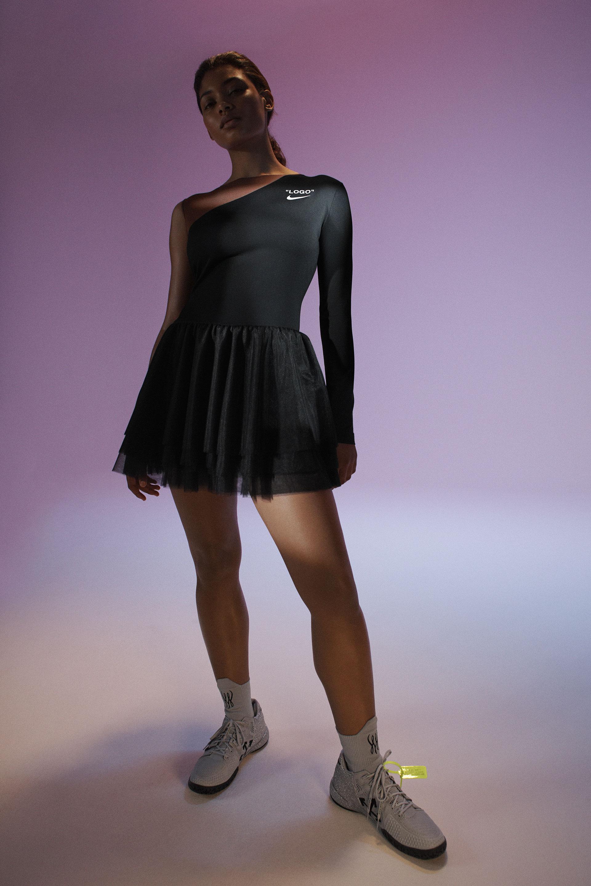 Nighttime dress designed by Virgil Abloh for Serena Williams