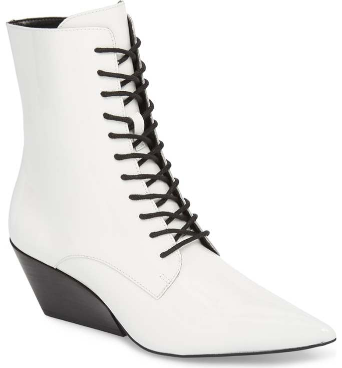 Calvin Klein Jeans Faith Pointy Toe Laced Bootie