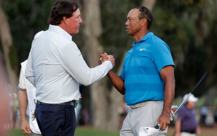 Phil Mickelson, Tiger Woods, Master Tournament, golf