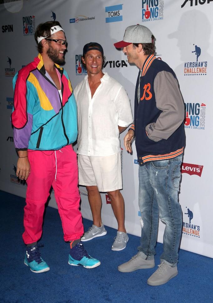Clayton Kershaw, Matthew McConaughey, Ashton Kutcher, pingpong4purpose