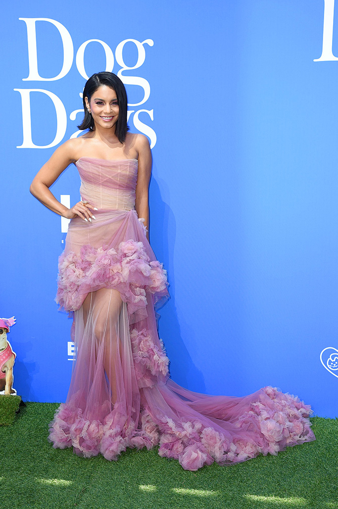 Vanessa Hudgens 'Dog Days' film premiere, Arrivals, Los Angeles, USA - 05 Aug 2018WEARING MARCHESA SAME OUTFIT AS CATWALK MODEL *9052037am