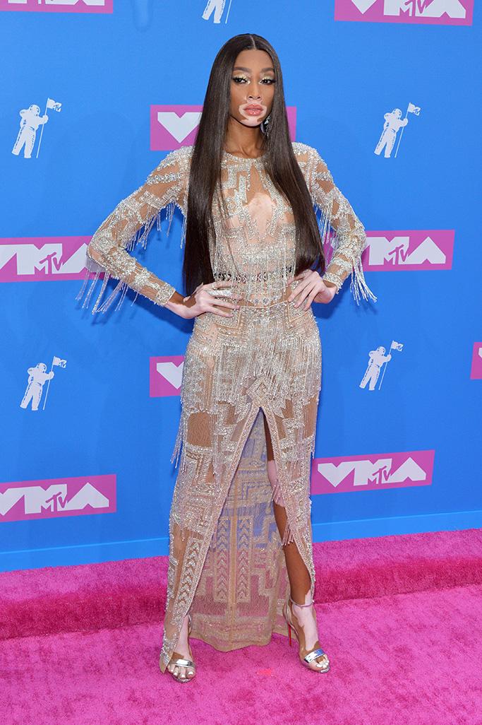 Winnie Harlow MTV Video Music Awards, Arrivals, New York, USA - 20 Aug 2018