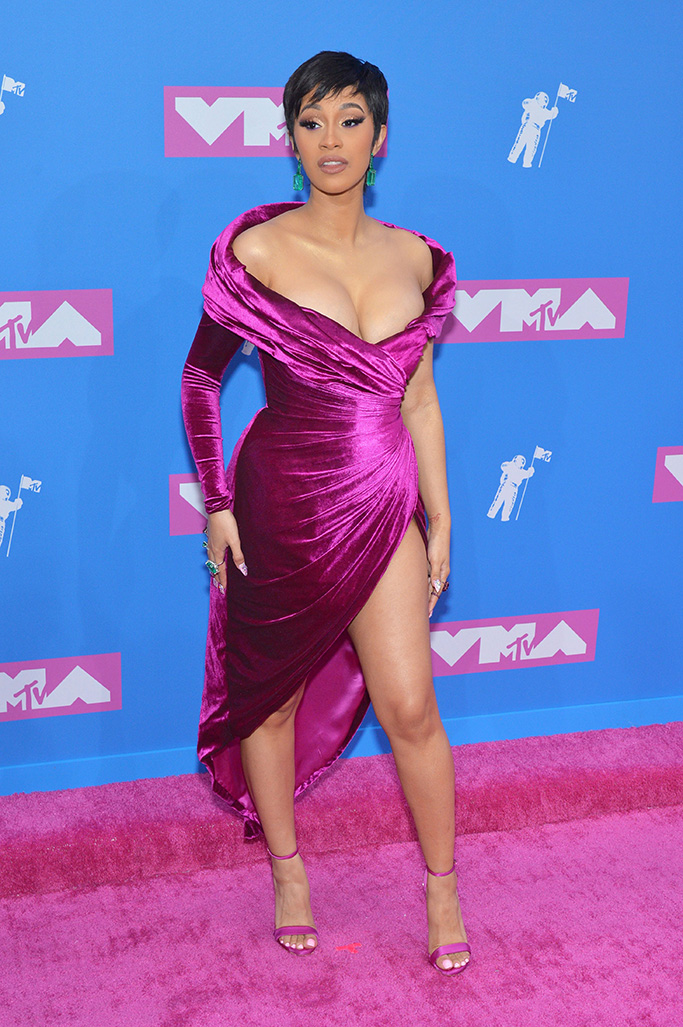 Cardi B MTV Video Music Awards, Arrivals, New York, USA - 20 Aug 2018