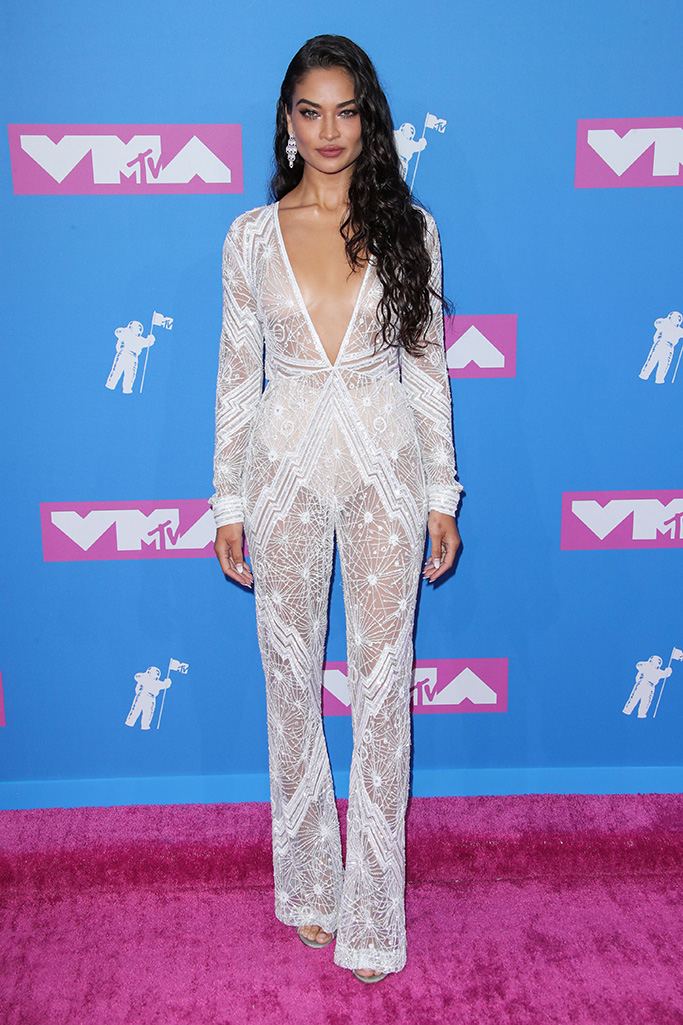 Shanina Shaik, MTV Video Music Awards, Arrivals, New York, USA - 20 Aug 2018