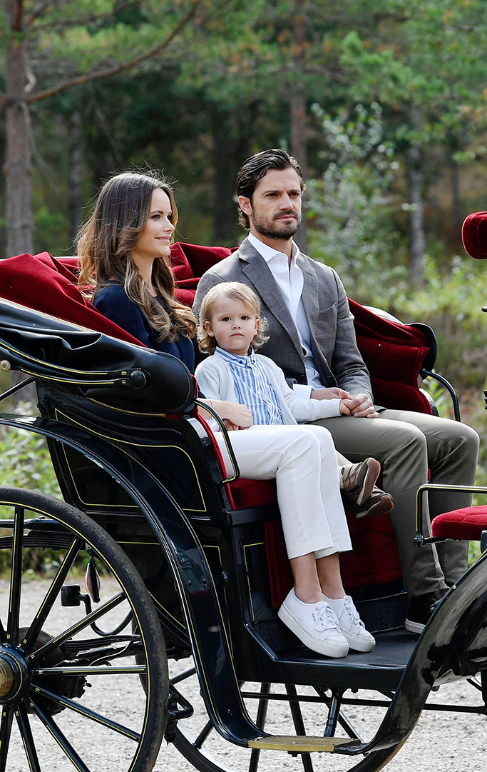 Princess Sofia of Sweden, Prince Carl Philip, Prince AlexanderPrincess Sofia of sweden and Prince Carl Philip visit the Nynas Nature Reserve, Sodermanland, Sweden - 23 Aug 2018