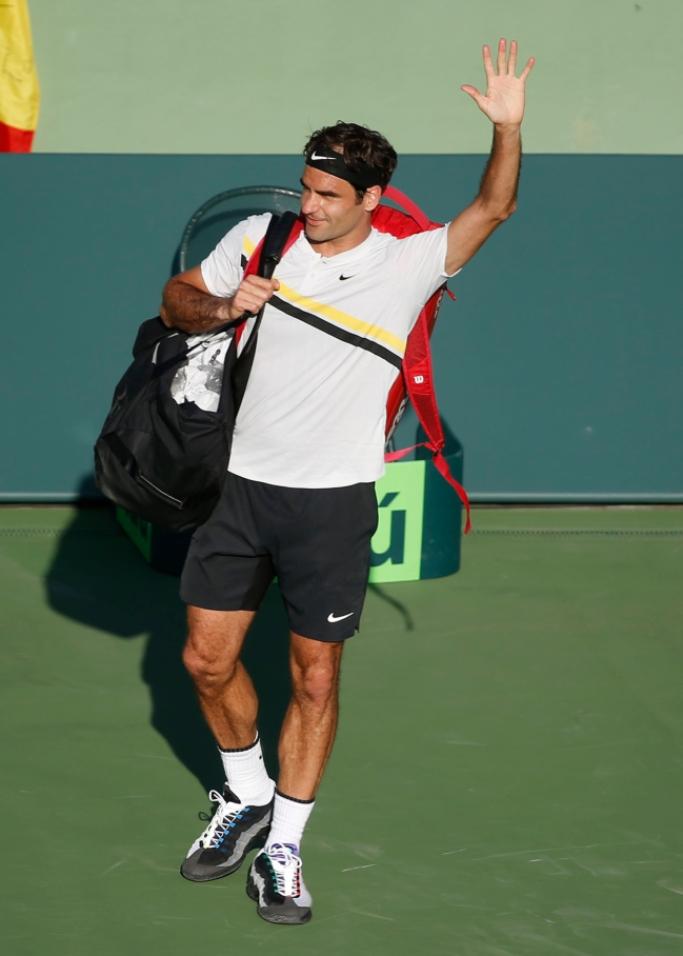 roger federer, nike, Nike Vapor AM95 greedy, miami open, tennis style