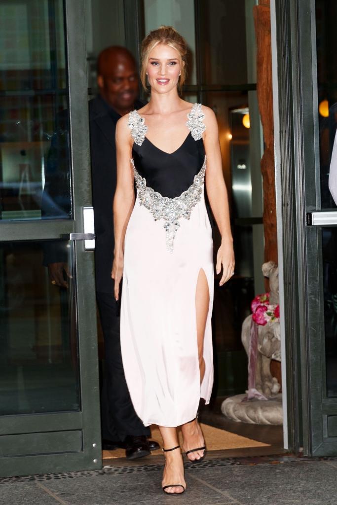 rosie huntington-whiteley, Christopher Kane Diamond Satin Cami Dress, jimmy choo minny sandals