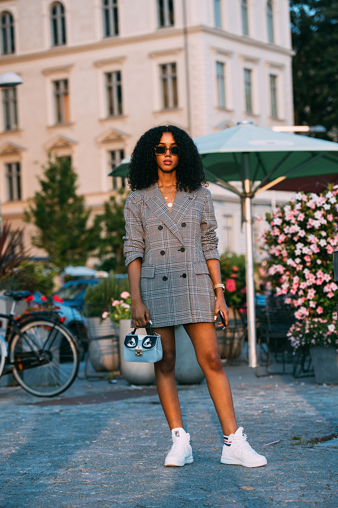 stockholm fashion week, street style, salem indrias, fila sneakers
