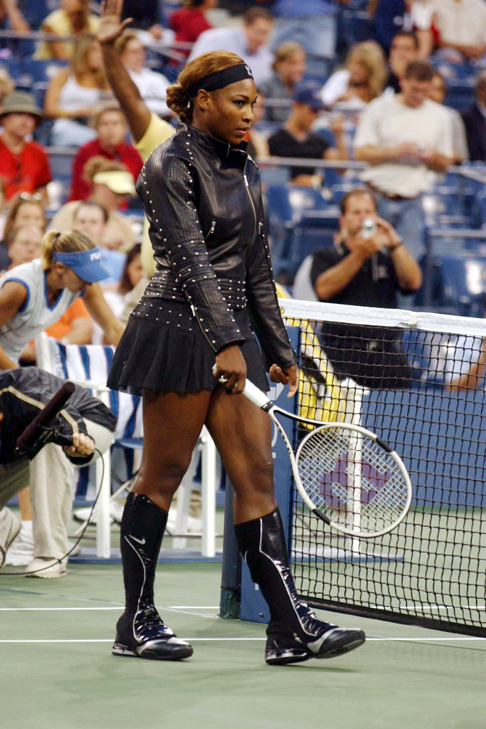 Serena Williams wears a Nike-designed look at the 2004 U.S. Open.