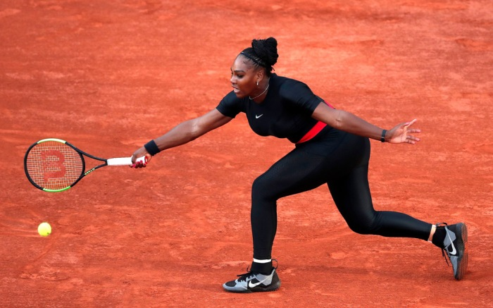 Serena Williams, catsuit, french open