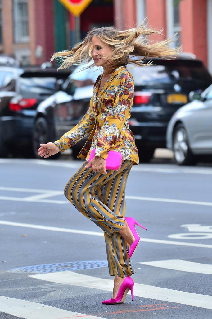 Sarah Jessica Parker, pajamas, lingerie SJP, photo shoot