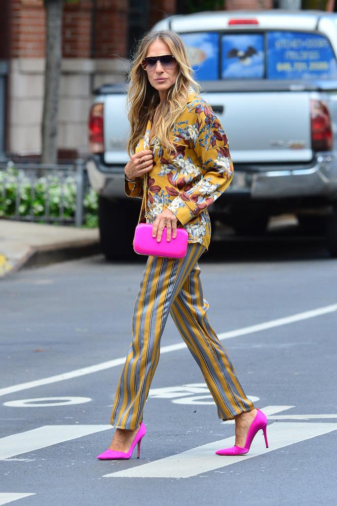 SJP, Sarah Jessica Parker, pajamas, hot pink, SJP Collection