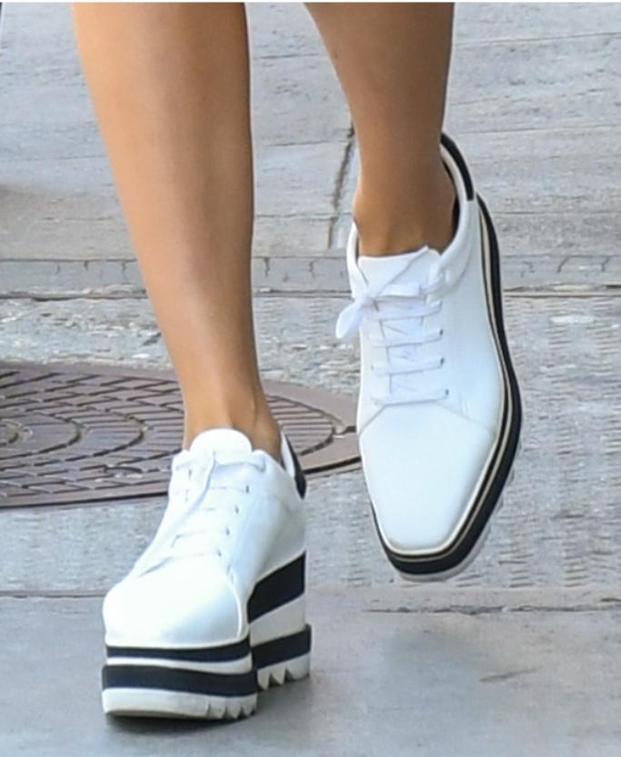 Stella McCartney Sneak-Elyse Flatform Sneakers, olivia culpo, street style