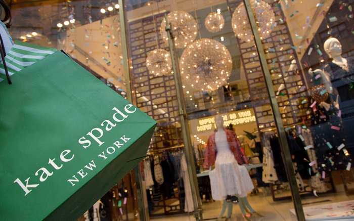 Kate Spade shopping back and storefront
