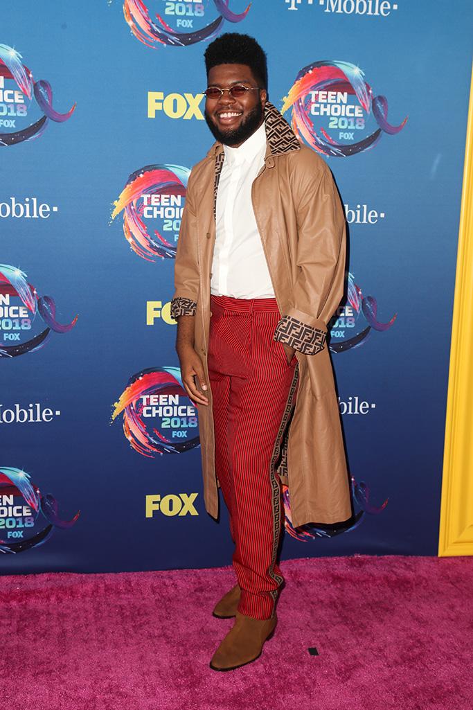 Khalid Teen Choice Awards, Arrivals, Los Angeles, USA - 12 Aug 2018